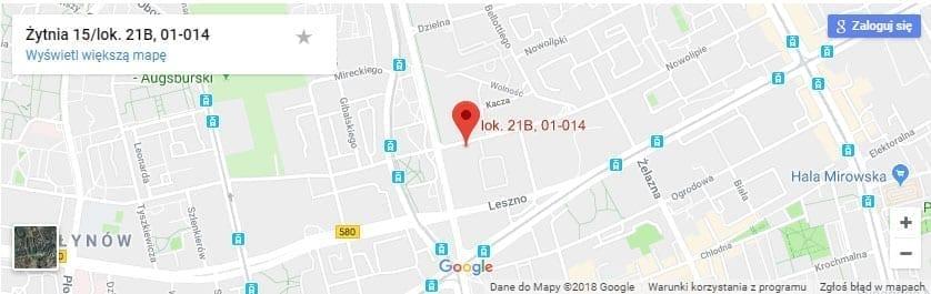 NetCredit mapa dojazdu