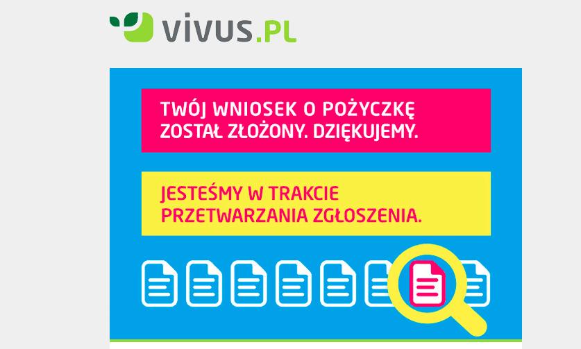 Proces pożyczkowy w Vivus krok 5.1