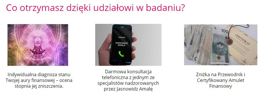 screen z przebiegu badania aury finansowej z serwisu przepowiadamy.pl