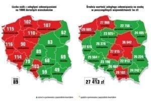Zadłużenie województw w Polsce