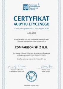 Certyfikat KPF (obecne ZPF).